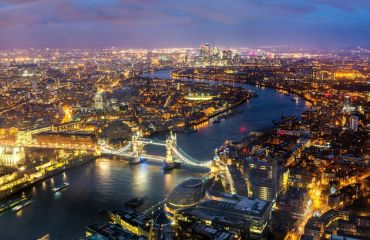 Magic of the great city. London from the bird's-eye view