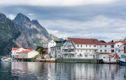 Fishing village Honningsvåg, Norway